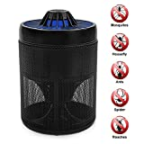 Heartty Mosquito Insect Killer Lamp Trap, USB Powered LED Light Nontoxic Bug Zappers for Indoor Outdoors Use