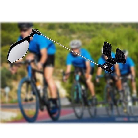 6SHINE - Casco de Bicicleta con Espejo Flexible, Espejo retrovisor ...