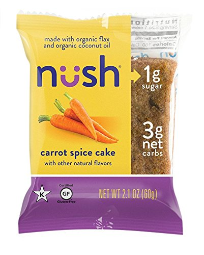 Low Carb Keto Snack Cakes (Flax-Based) - Carrot Spice Flavor (6 Cakes) - Gluten Free, Soy Free, Organic, No Sugar Added - Great for Ketogenic, Low-Carb, Atkins, and Low-Sugar Diets