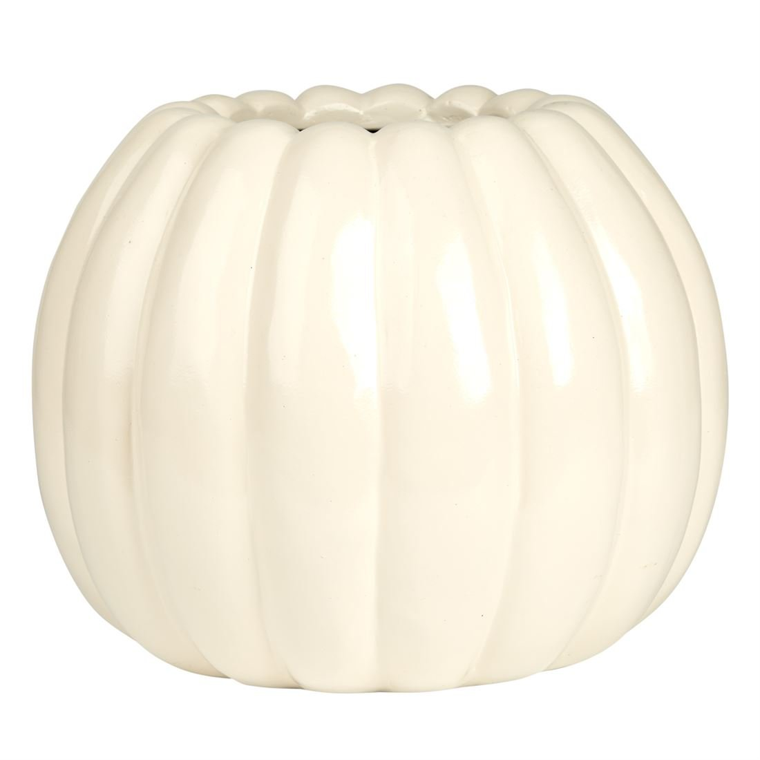 BrylaneHome Small Pumpkin Planter (Ivory,0)