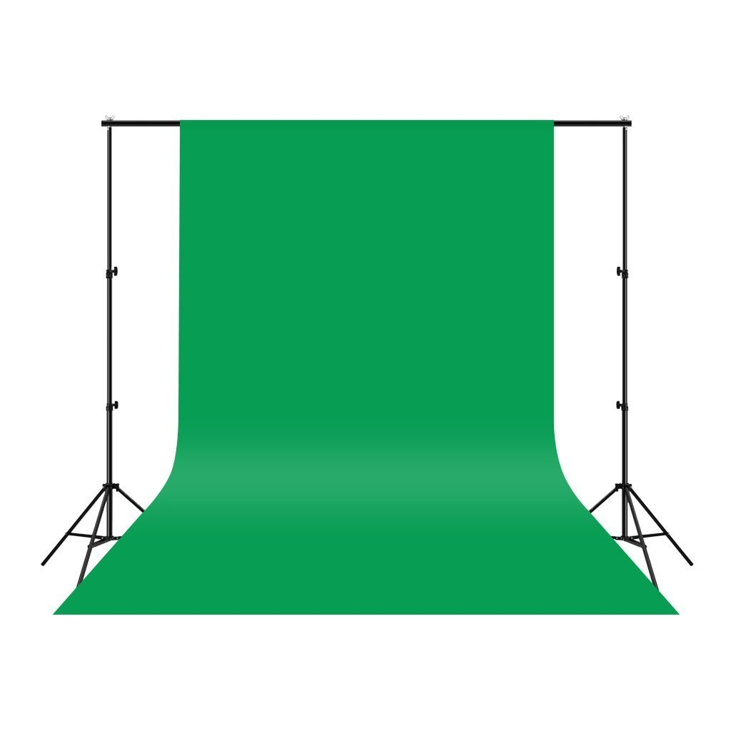 Green Photo Studio Collapsible Polyester Fabric Backdrop Background for Photography,Video and Television (Green, 10x10FT/3x3M)