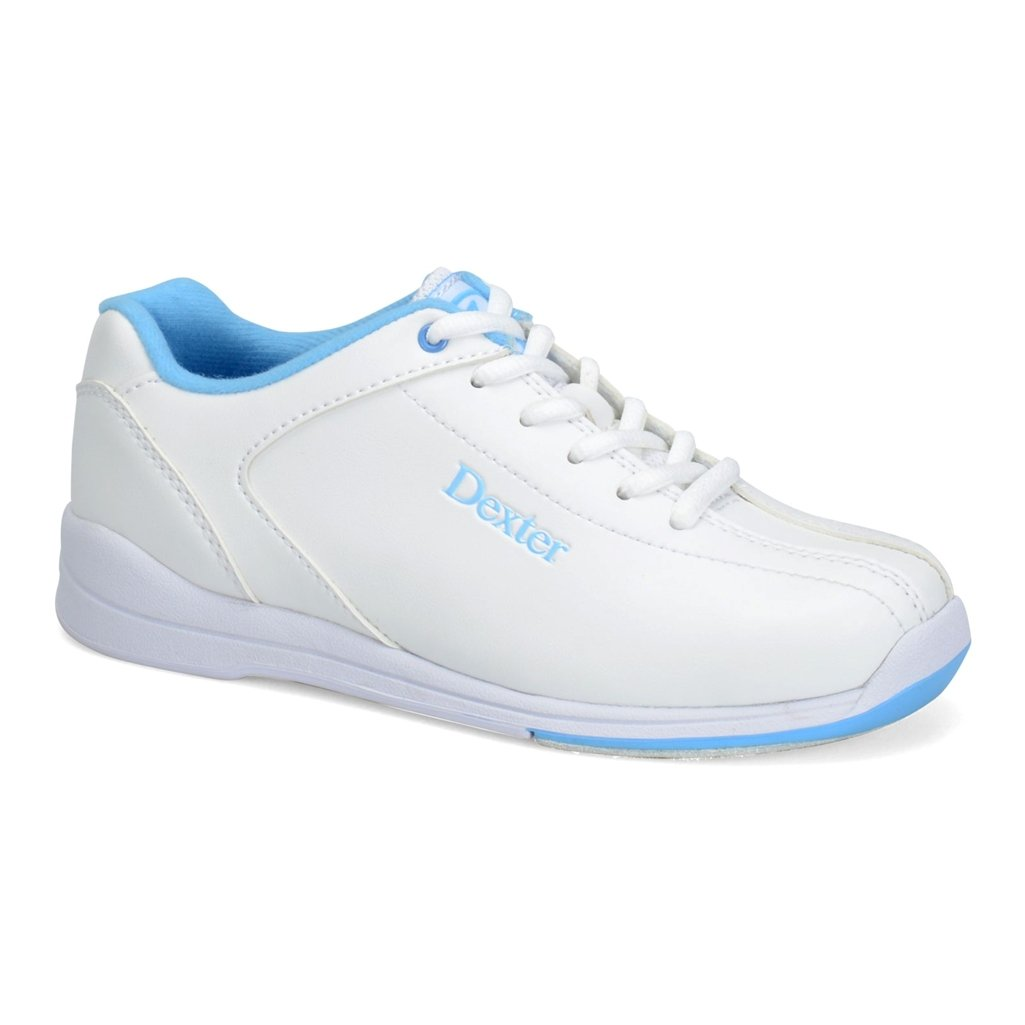 Dexter Womens Raquel IV Bowling Shoes- White/Blue (7 W US, White/Blue)