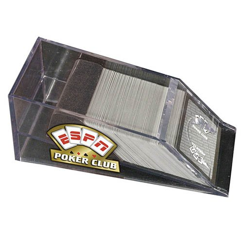 ESPN Poker Club Acrylic 4 Deck Dealer Shoe (Deck Four Shoe Card)