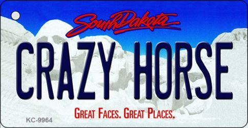 Crazy Horse South Dakota Metal Novelty Aluminum Key Chain KC-9964 Crazy Horse Dakota
