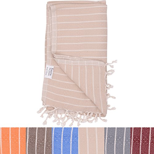 Sanremo Turkish Towel (Beige) - Outlet Mills Colorado