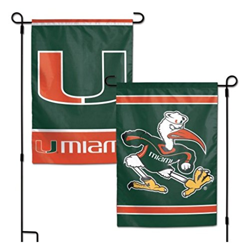NCAA University of Miami Hurricanes 12 x 18 inch 2-Sided Garden Flag -