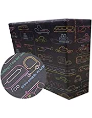 eVincE gift Wrapping Paper Kids Birthday boy | Car Facts Wrap | Pack of 25 thick matte recyclable sheets | 70 x 50 cms size | Fun gift wrap