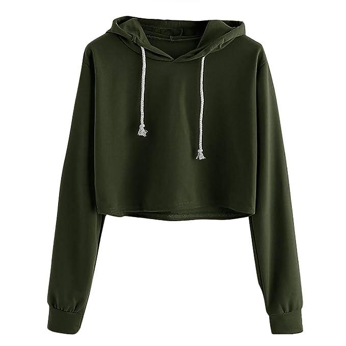 fb9819daa925ec Jaminy Damen Pulli Sweatshirts Hoodie Sport Langarm kurz Pullover Outerwear Langarm  Pullover Sweatshirt S-XL