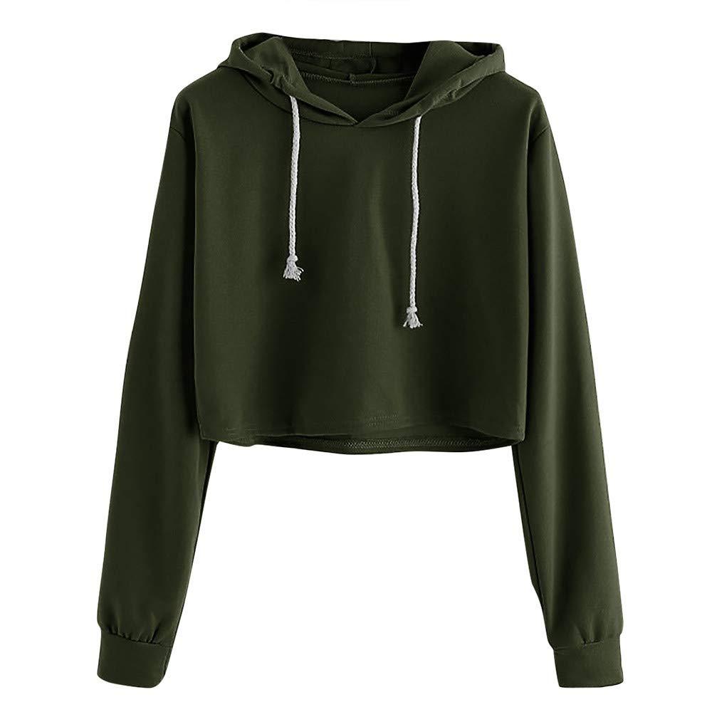 VANSOON Sweatshirts for Women Long Sleeve Blouse Jumper Sweater Causal Coat Sports Tops Blouse Fashion Crop Top
