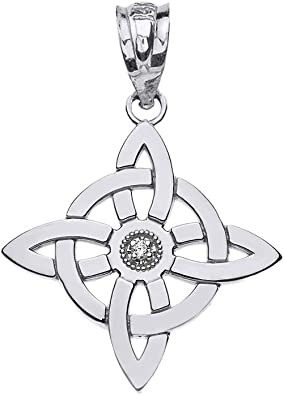 Pagan Sterling silver wiccan small skull charm pendant
