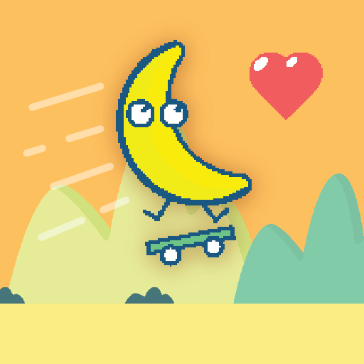 Banana on a Skateboard: Fruit on wheels - popular super simple fun games for free 2018 (no wifi) ()