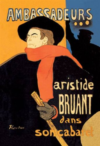 Walls 360 Peel & Stick Wall Decal: Ambassadeurs Aristide Bruant dans Son Cabaret by Toulouse Lautrec (24 in x 36 in)