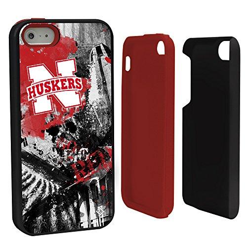NCAA Nebraska Cornhuskers Paulson Designs Hybrid Case for iPhone 5/5S, Black