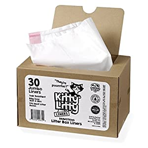 Cat Litter Box Liners 30 Count Drawstring Cat Waste Liners 55