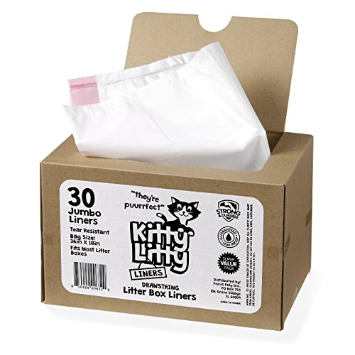 Cat Litter Box Liners 30 Count Drawstring Cat Waste Liners