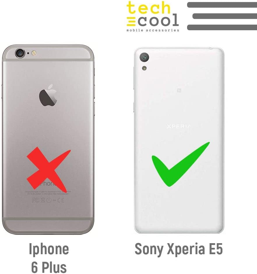 Funnytech/® Funda Silicona para Sony Xperia E5 Gel Silicona Flexible, Dise/ño Exclusivo Escudo Espa/ña Orgulloso
