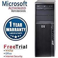 HP Z400 Business High Performance Tower Desktop Computer PC (Intel Xeon W3503 2.4G,4G RAM DDR3,250G HDD,DVD-ROM,(AMD HD3450 + Y Cable,Windows 10 Professional)(Certified Refurbished)