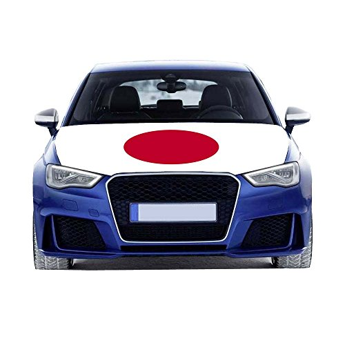 MCCOCO World Cup Flag Car Hood Cover 3.3X5FT-100X150CM Polyester fabric,Engine Flag,Elastic Fabrics Can be Washed,Car Bonnet BannerBanner (Japan)