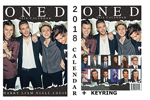 ONE DIRECTION CALENDAR 2018 + ONE DIRECTION KEYRING