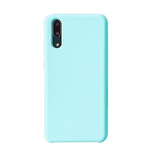 on sale d6f97 38ab8 Huawei P20 Case, Slim Soft Liquid Silicone Gel Flexible TPU Bumper Case  Cover for Huawei P20