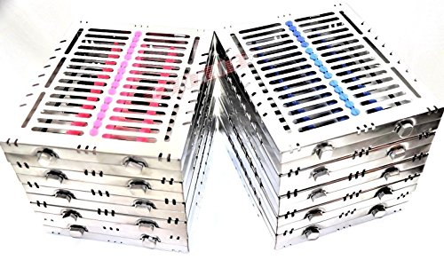 10 GERMAN DENTAL AUTOCLAVE STERILIZATION CASSETTE BOX TRAY FOR 15 INSTRUMENTS BLUE/PINK ( CYNAMED ) by CYNAMED (Image #9)