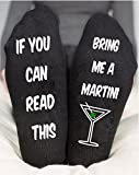 If You Can Read This Funny Socks Bring Me A Martini Birthday Gift
