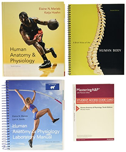 Human Anatomy & Physiology, Mastering A&P with Pearson eText & ValuePack Access Card, Human Anatomy & Physiology Laboratory Manual, Cat Version, Brief Atlas of the Human Body (10th Edition)