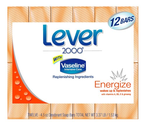 Lever 2000 Energize Bar Soap  (Twelve 4.5 Ounce Bars)