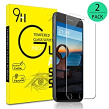 iPhone 6 Plus/6S Plus/7 Plus /8 Plus Screen Protector,Canpeki 2-Pack Screen Protector Tempered Glass, No Bubbles, 3D Touch Compatible,9H Hardness,Explosion Proof Front Screen Protector
