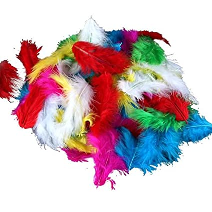 Bolsa de Plumas Feather Marabu Colores Variados para Manualidades 120 PC