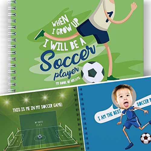 Soccer Activity Book For Kids: When I grow Up I Will be a Soccer Player. Memory Book of Dreams. Gifts for Boys and Girls, Art Activity for Children, Educational Kids Presents, World Cup 2018