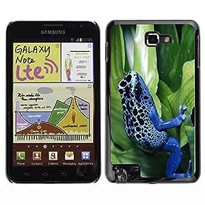 YOYO Slim PC / Aluminium Case Cover Armor Shell Portection //Cool Neon Blue Jungle Frog //Samsung Note