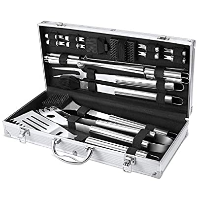 FYLINA BBQ Grilling Set Stainless Steel Barbecue Tools Grilling Tool Set by BubPro
