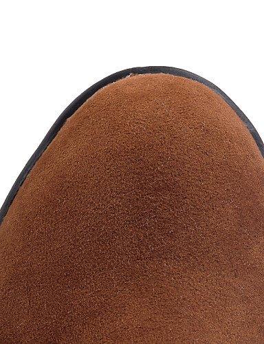 Rojo Cerrada Tacón Zapatos Xzz Negro Trabajo Uk6 Ante Hueso Vestido Eu39 Mujer Redonda 5 Cn40 U De Punta Red Bajo 5 Y Casual Oficina us8 Botas dadwx0tq