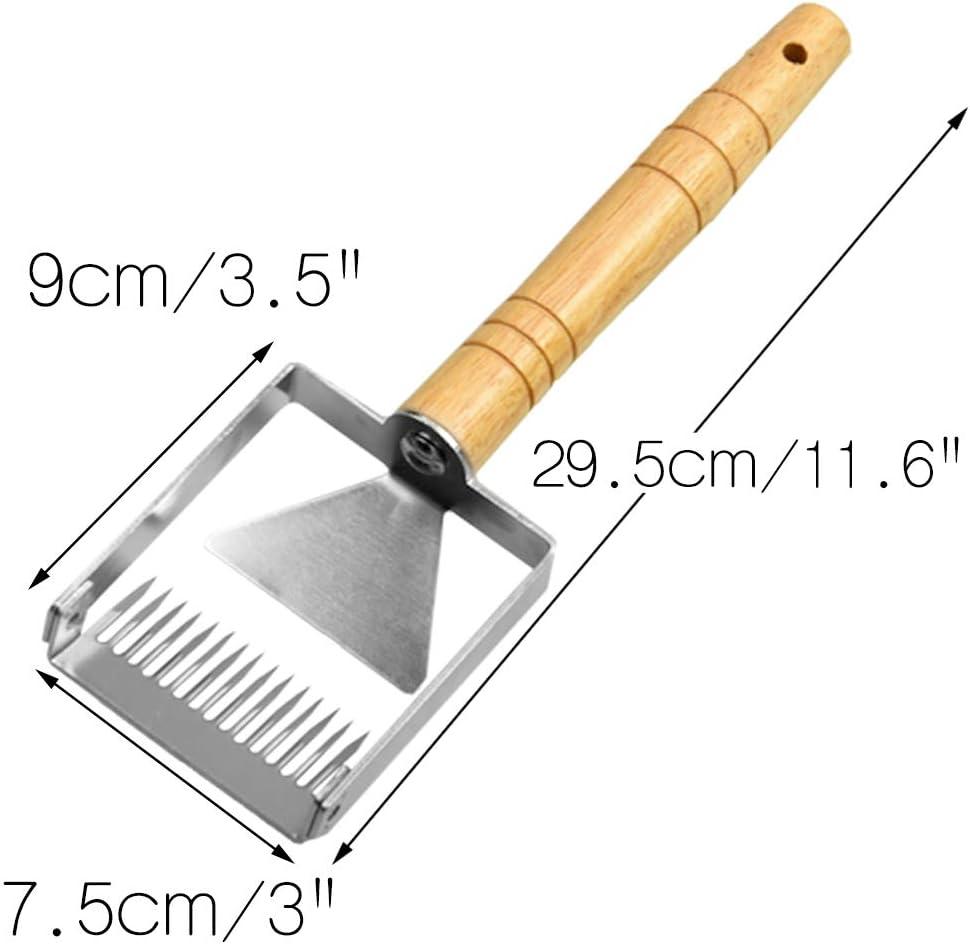 Uncapping Fork Apiculture Iron Honeycomb Honey Scraper Wooden Handle