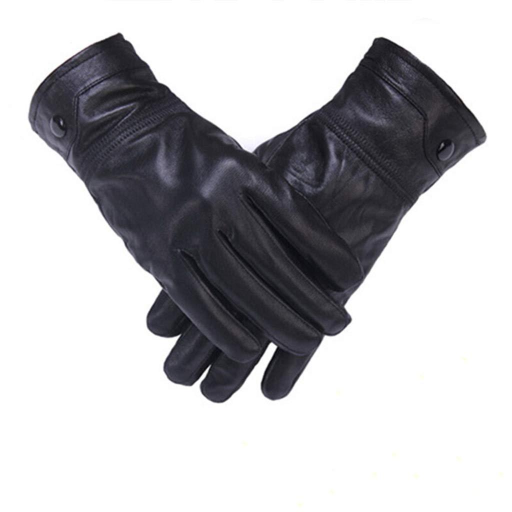 DSADDSD Lederhandschuhe für Männer, Outdoor-Sportarten wasserdicht und Winddicht warme Reithandschuhe