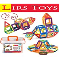 LIRS TOYS Magnetic Building Blocks Toy - 72 pcs Set of...