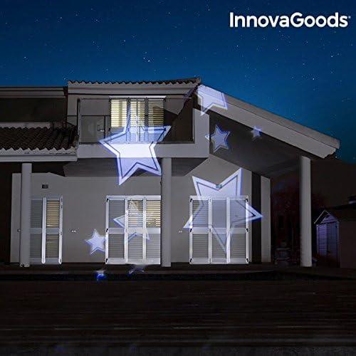 InnovaGoods Proyector LED Decorativo para Exterior, Multicolor ...