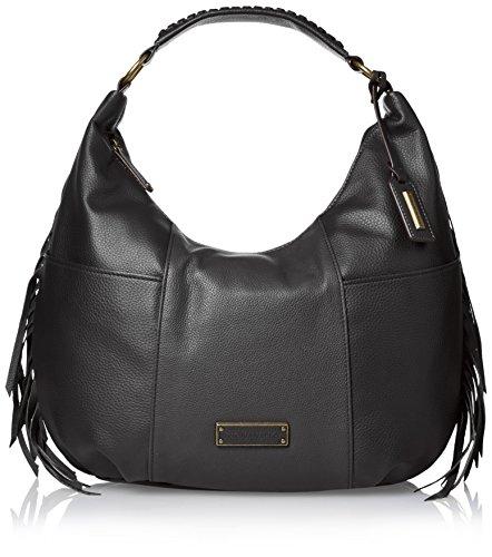 Tignanello Tribecca Fringe Hobo Shoulder Bag, Black, One ()