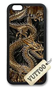 iPhone 6 Case,VUTTOO Stylish Chinese Golden Dragon Soft Case For Apple iPhone 6 (4.7 Inch) - TPU Black