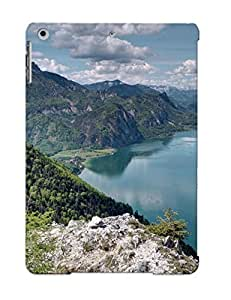 Defender Case For Ipad Air, Picturesque Mountain River Pattern, Nice Case For Lover's Gift