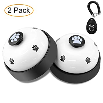 Campanilla de entrenamiento para perros Comsmart, juego de 2 cascabeles de entrenamiento para cachorros y
