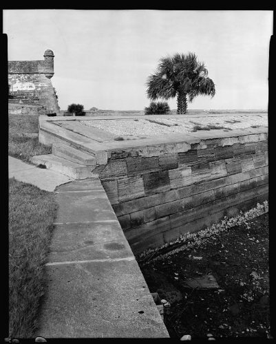 Photo: Sea Wall,Saint Augustine,stone walls,structures,St Johns - In Fl Augustine Shopping St