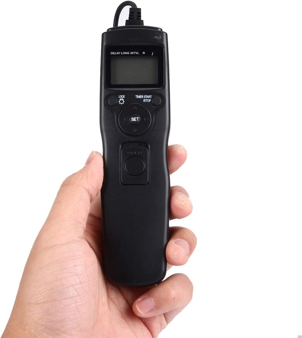 D3X, D3, D700, D300, D2X, D2H, D200, D1H, D1X, D800 Hyx ShutterContro for camrea RST-7004 LCD Screen Time Lapse Intervalometer Shutter Release Digital Timer Remote Controller with N8 Cable for Nikon