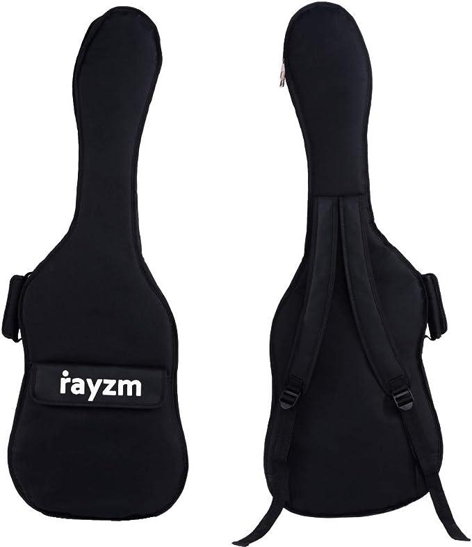 Rayzm funda para guitarra eléctrica, bolsa acolchada para guitarra eléctrica Strat y tele Style, dos correas acolchadas, asa de transporte,un amplio compartimento frontal: Amazon.es: Instrumentos musicales