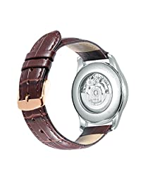 iStrap 22mm Calfskin Replacement Watch Band With Rose Gold Pin Buckle for Men Women - Brown