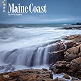 Maine Coast 2018 12 x 12 Inch Monthly Square Wall Calendar, USA United States of America Northeast State Ocean Sea Nature (Multilingual Edition)