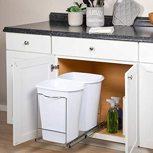 pull out trash can under cabinet