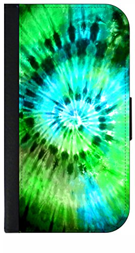 Blue-Green Tie Dye - Wallet Style Phone Case Compatible with the Samsung Galaxy s3/s4/s5/s6/s6edge/s7/s7edge/s8/s8Plus - Choose Your Compatible Phone Model (Tie Case Dye Galaxy S5)