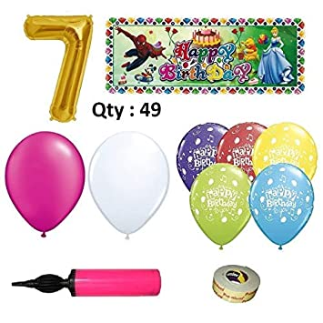 Birthday Decoration Items For Girls 7th Combo 49 Amazonin Toys Games